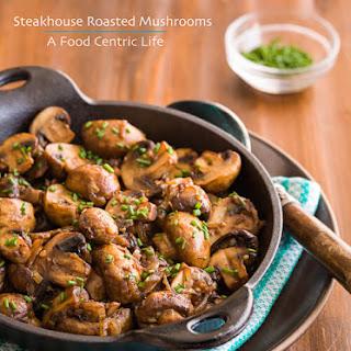 Steakhouse Roasted Mushrooms Recipe