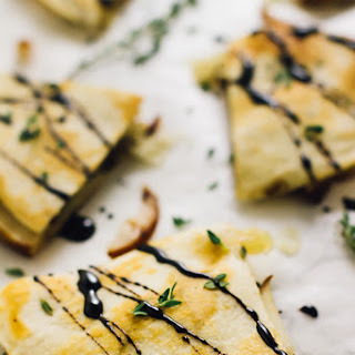 Pear Brie & Caramelised Onions Quesadillas