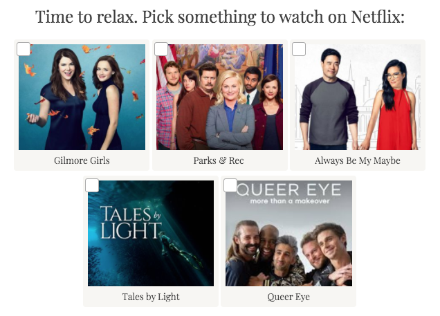 quiz question - What to watch on Netflix?