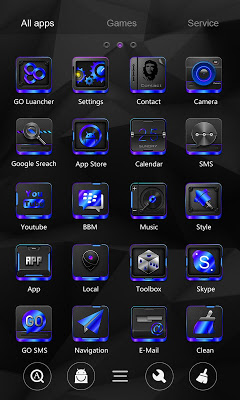 Black Tech Go Launcher Theme - screenshot