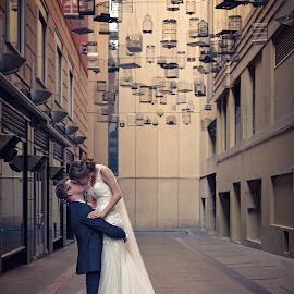 The Kiss by Adam Beniston - Wedding Bride & Groom