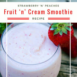 Strawberry 'n' Peaches Fruit 'n' Cream Smoothie.