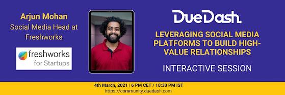 DueDash & Freshworks Event: Leveraging social media platforms to build high-value relationships
