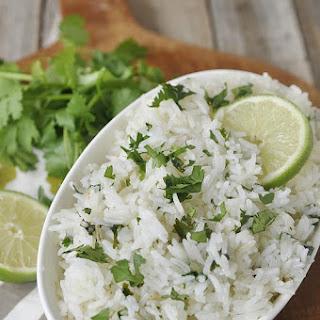Lime Cilantro Rice.