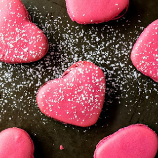 Raspberry Macaron Hearts.