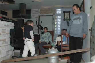 Photo: The Haj Family barricaded in their Jaffa home