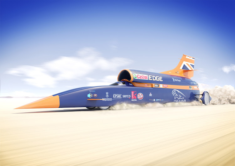 The jet-powered car was to have attempted the land speed record at SA's Hakskeen Pan in late 2019. Picture: SUPPLIED