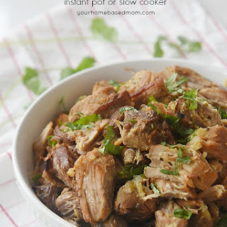 Pork Carnitas Instant Pot or Slow Cooker.
