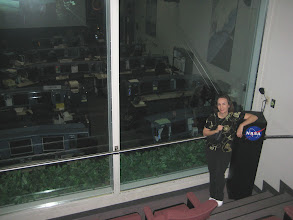 Photo: Heather above Space Shuttle MCC