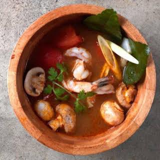 Tom Yum Goong Soup.