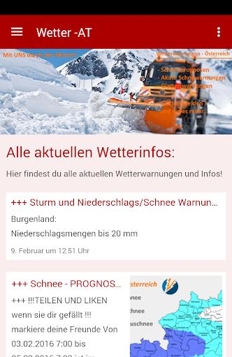 Wetterwarnungen - u00d6sterreich 6.233 screenshots 1