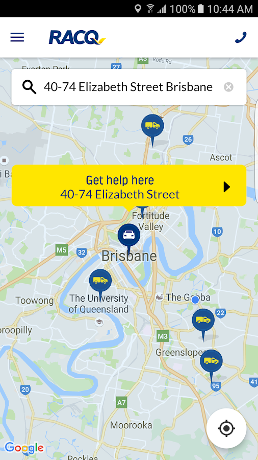 RACQ Roadside Assistance- screenshot