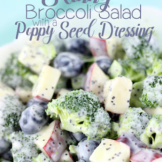 Skinny Broccoli Salad with a Poppy Seed Dressing.