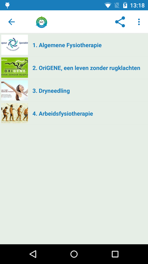 ReAT Fysiotherapie- screenshot
