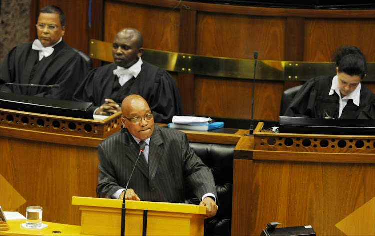 President Jacob Zuma in the National Assembly. File photo.