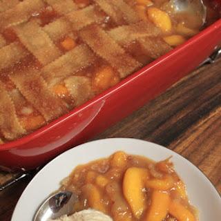 Old Fashioned Triple Crust Peach Cobbler.