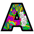 Alphabets Color by Number Book: Pixel Art Coloring
