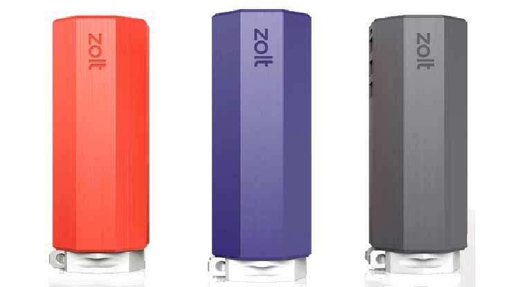 The Zolt: Charge your laptop and two mobile devices with a single Zolt.