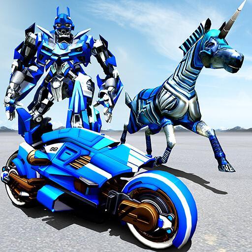 US Police Robot Horse Game - Transforming Robots