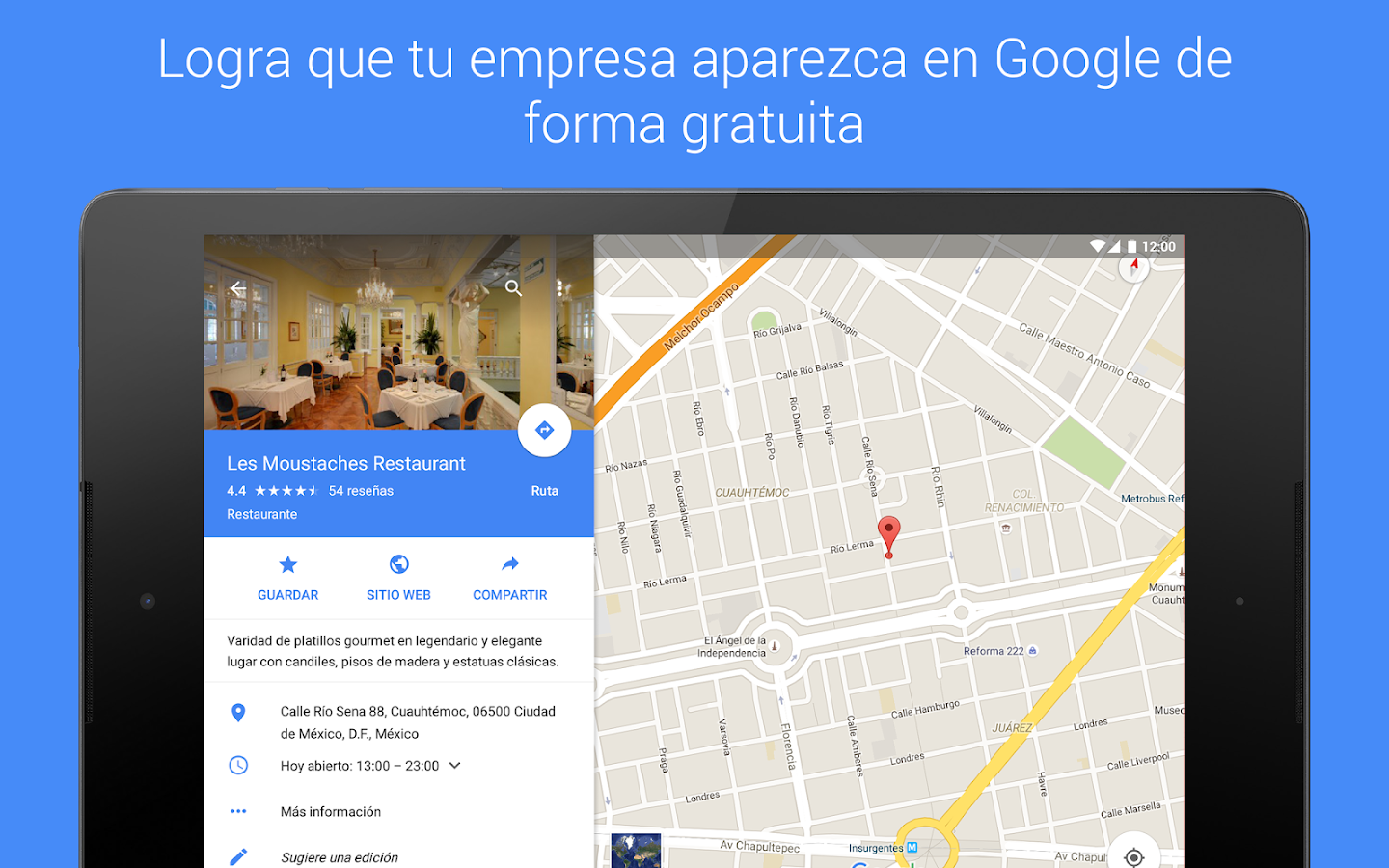 Google Mi Negocio: captura de pantalla