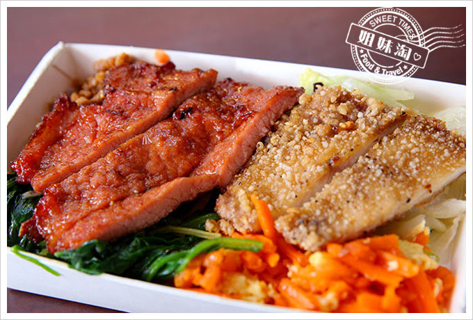 桌上賓中式快餐排骨加魚排