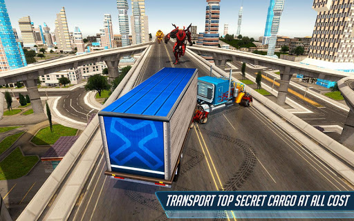Heavy Truck Robot Giant Truck Driver Simulator 9 screenshots 8
