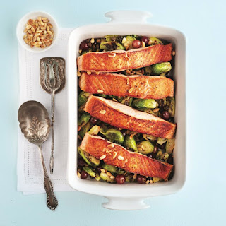 Pan-Fried Salmon with Brussels Sprouts Recipe