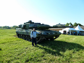 Photo: Jag vid stridsvagn 122