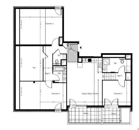 Vente appartement 4 pièces 86,2 m2
