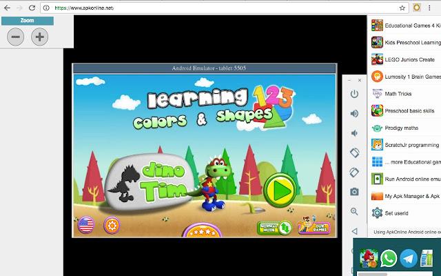 Jeux éducatifs dans un Android en ligne