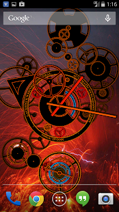 Hypno Clock Live Wallpaper Screenshot