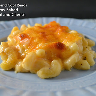 Creamy Baked Macaroni and Cheese.