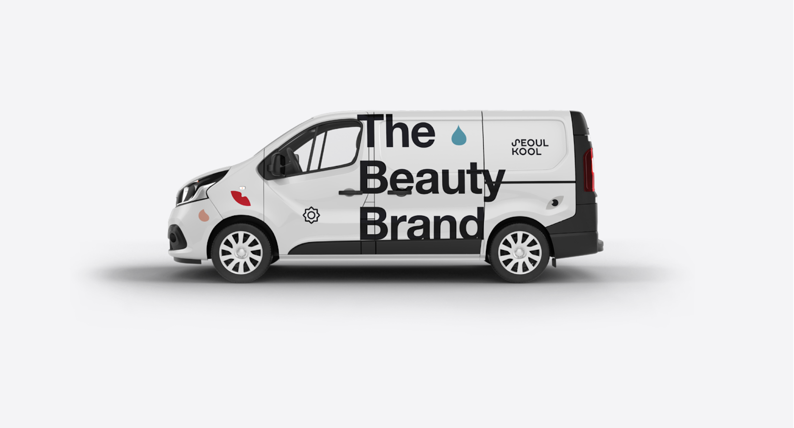 Branded advertising on van