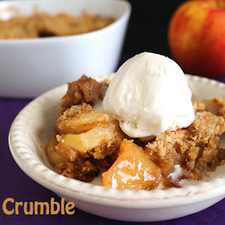 Apple Crumble with Walnuts.