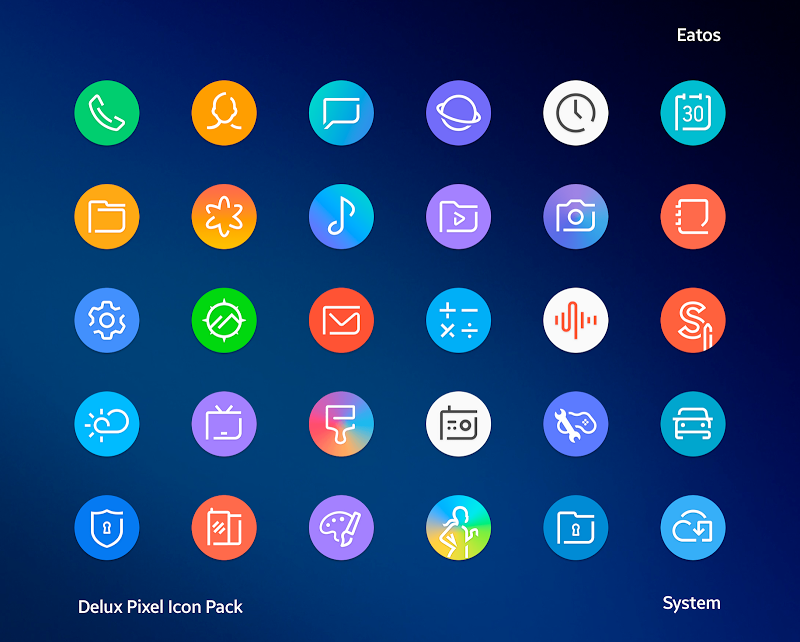 Delux - Pixel Icon pack Screenshot 0