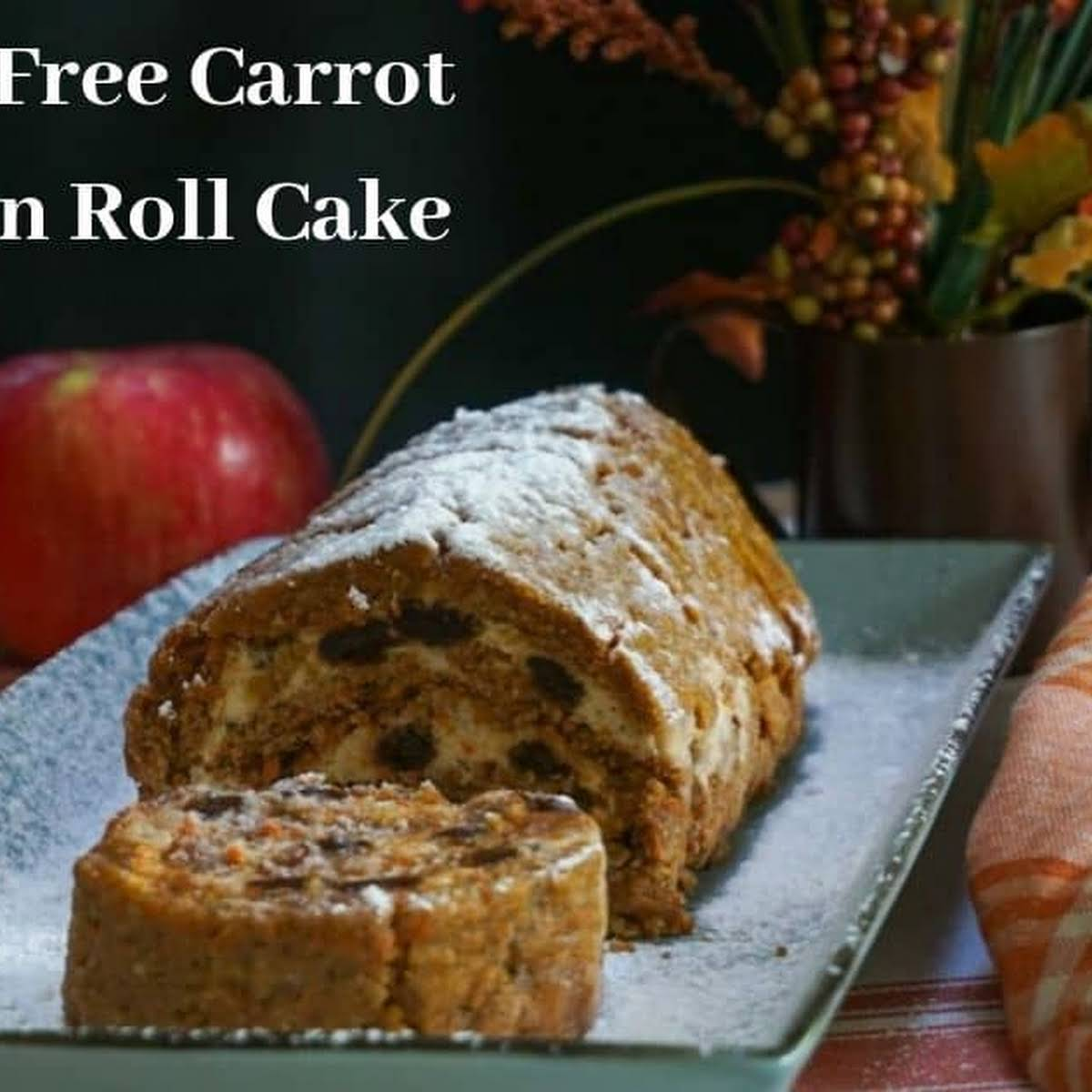 Gluten Free Carrot Pumpkin Roll Cake