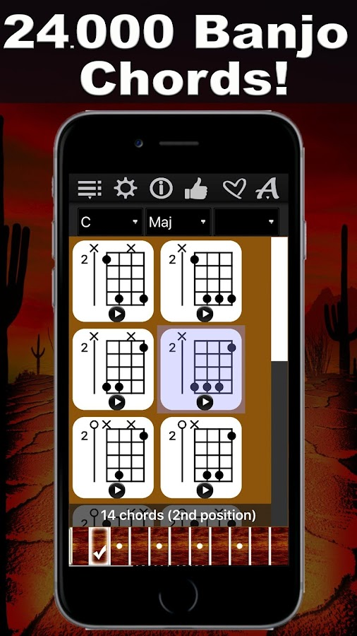 Banjo Chords Compass- screenshot