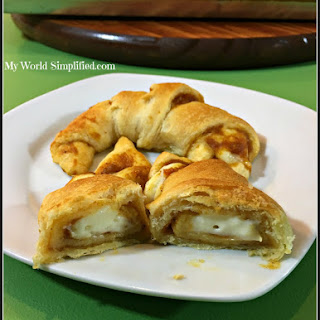 Pumpkin and Cheese Cake Crescent Rolls