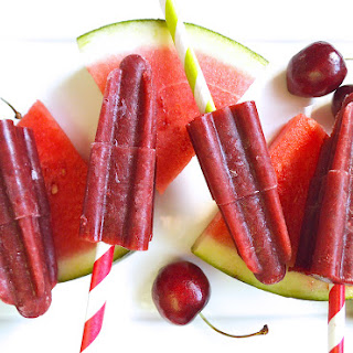 Cherry Watermelon Popsicles