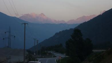 Photo: Aosta-völgy a naplementében