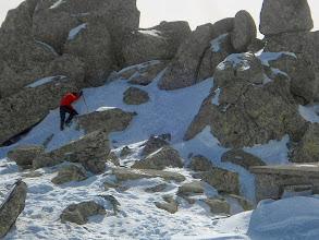 Photo: Dimitri à l'assaut du point haut de Cherni Vrah !