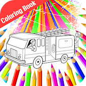 Fire Truck Siren Coloring Book