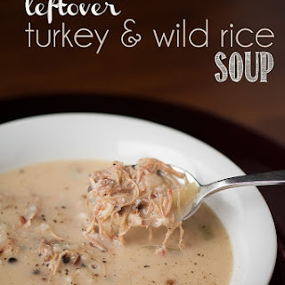 Leftover Turkey & Wild Rice Soup