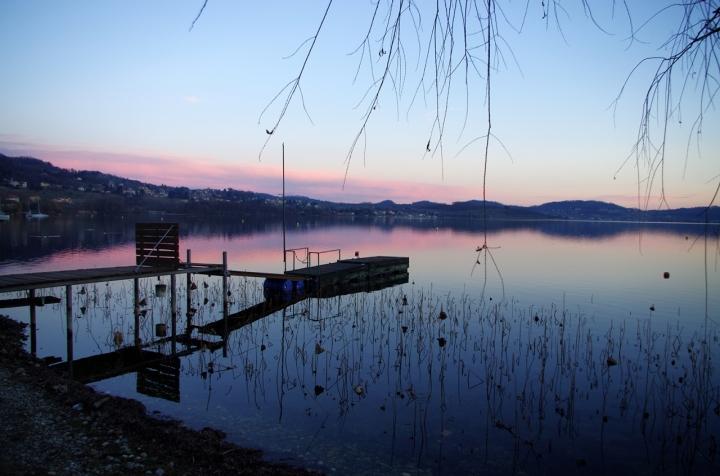 Tramonto sul lago di Viverone... di Giuseppe Loviglio