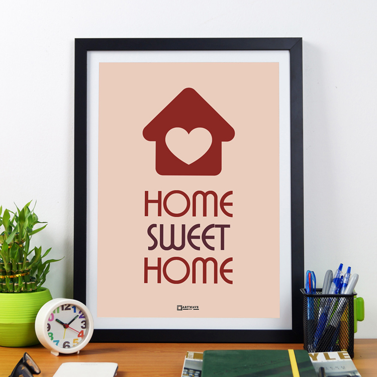 Home Sweet Home | Framed Poster by Artwave Asia