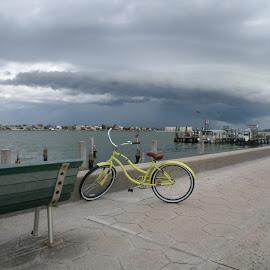 Stormy Bike Ride by Tammy Hoge - Landscapes Travel