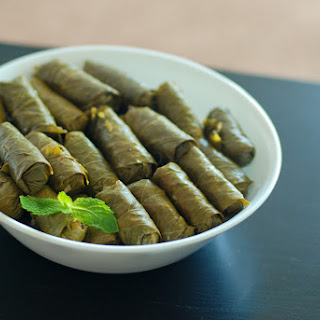 Dolmathes - Stuffed Grape Leaves