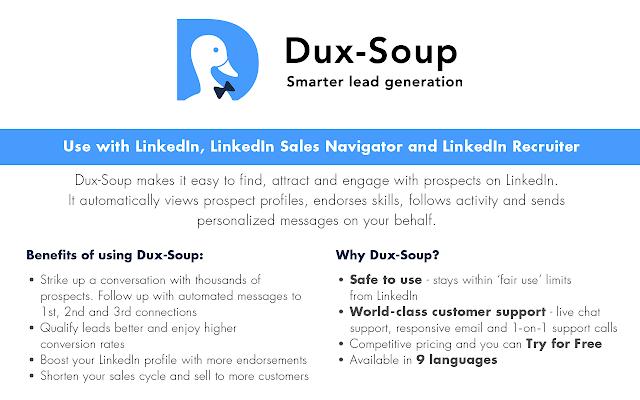 Dux-Soup for LinkedIn Automation