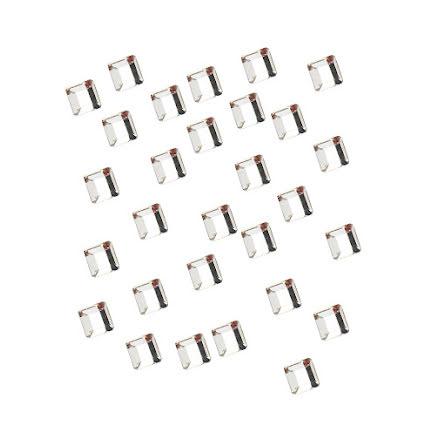 28 strasstenar kvadrater, silver, 2mm