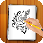 Learn to Draw Flower tattoo icon